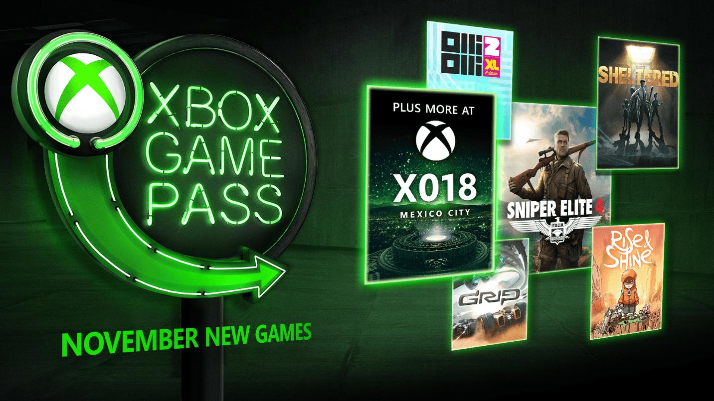Estos son los juegos Xbox Game Pass para Noviembre