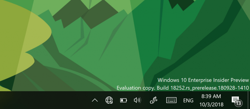 Build 18252, lanzada para el anillo rápido y Skip Ahead
