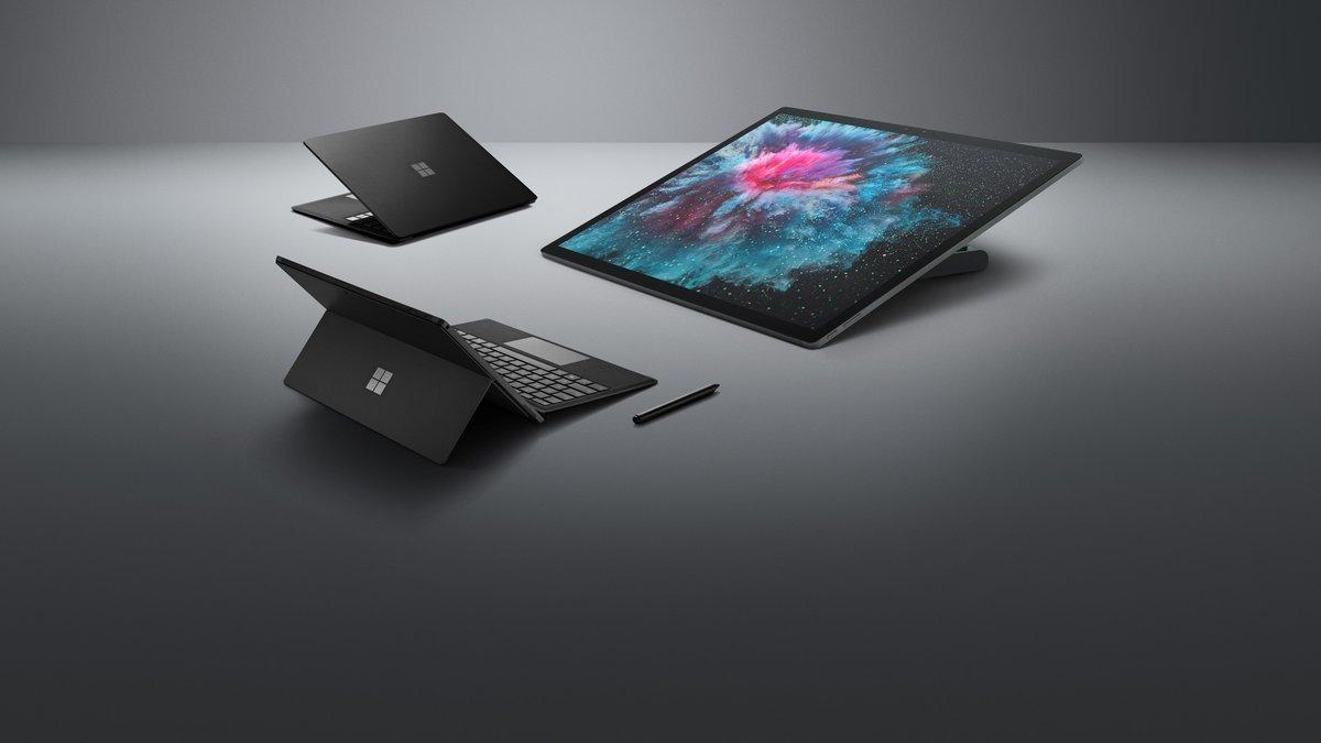 Ya tenemos filtrada la 1.ª imagen de la gama Surface Black