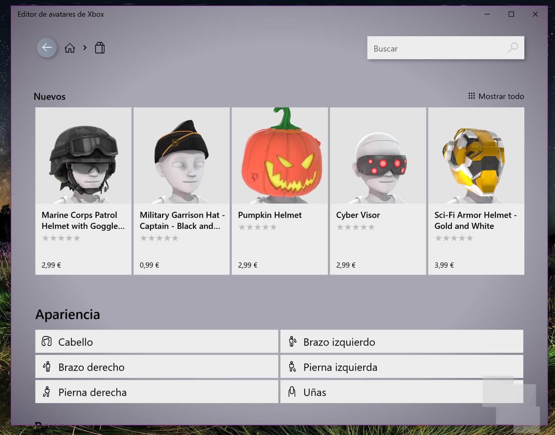 El Editor de Avatares Xbox ya cuenta con su tienda