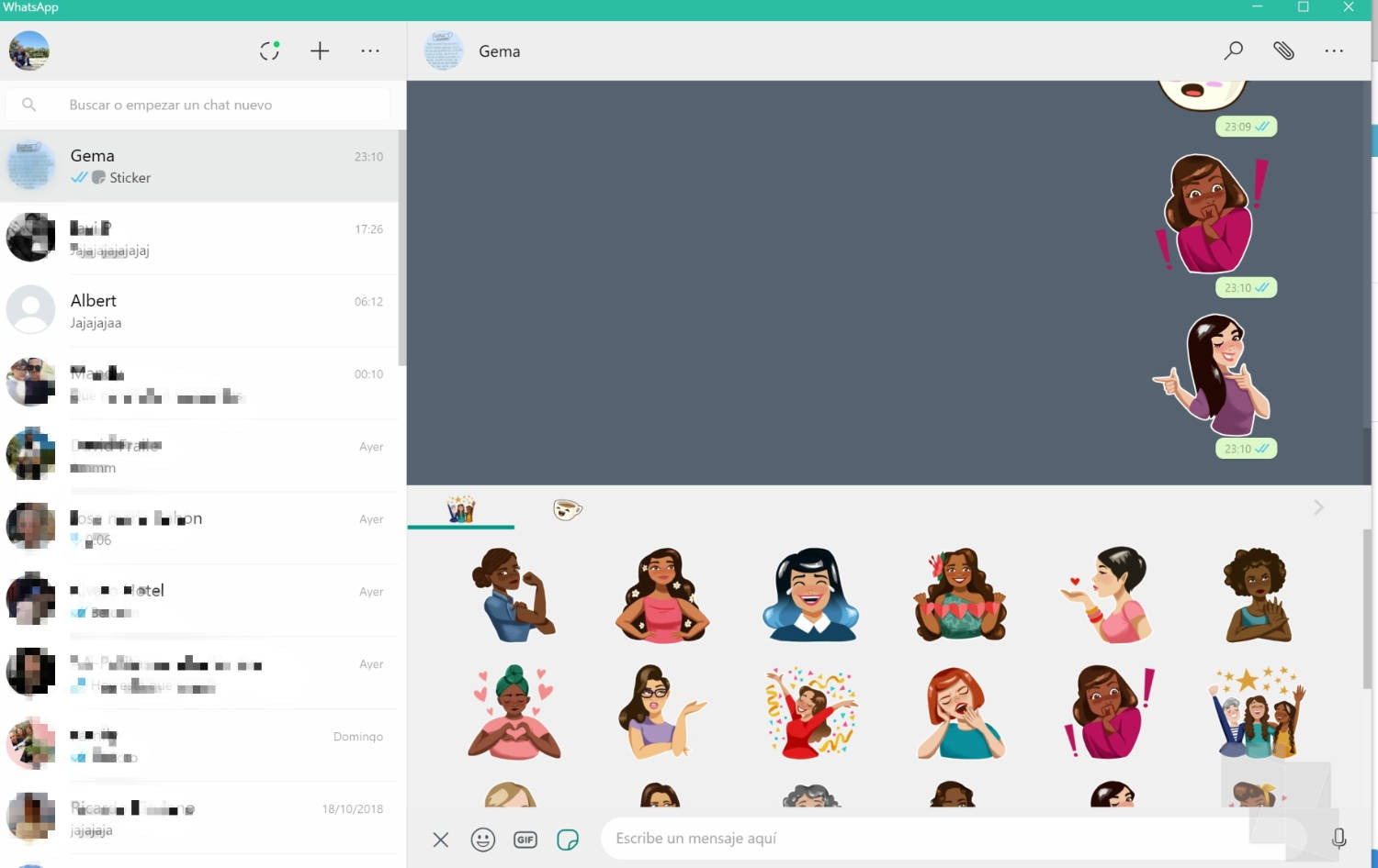 Ya puedes usar los Stickers en WhatsApp para Windows