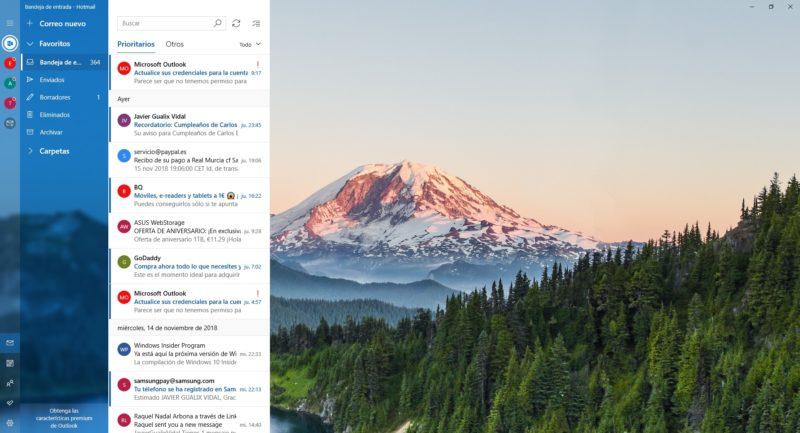 Correo y calendario prueban un nuevo diseño para Insiders
