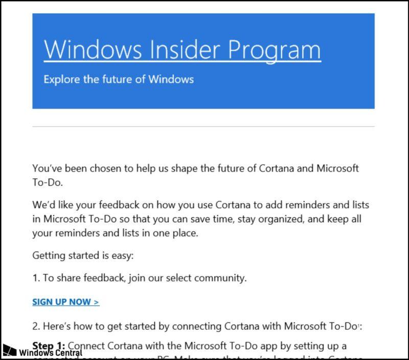 Microsoft inicia la prueba para integrar Cortana con Microsoft To-Do
