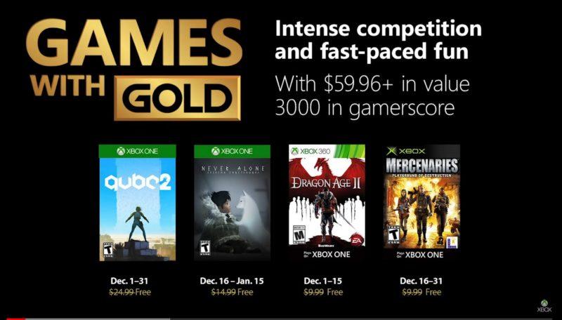 Ya conocemos los Games with Gold de Diciembre