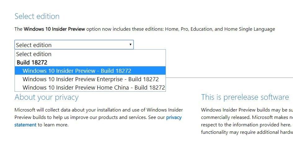 Ya puedes descargar la ISO de la Build 18272