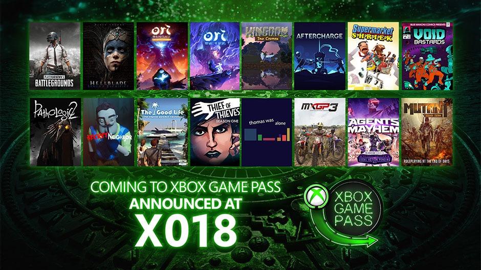 Xbox anuncia 16 nuevos juegos para Game Pass: PUBG, Hellblade, Ori y más
