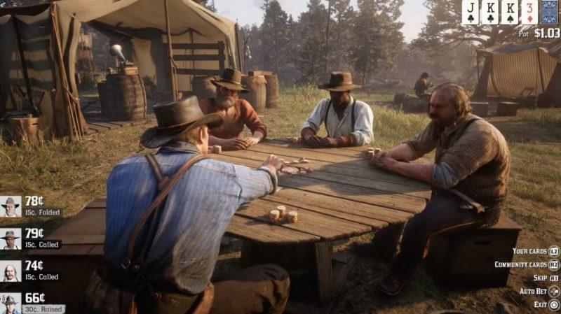 Red Dead Redemption 2, te ofrece la posibilidad de jugar a póquer y más