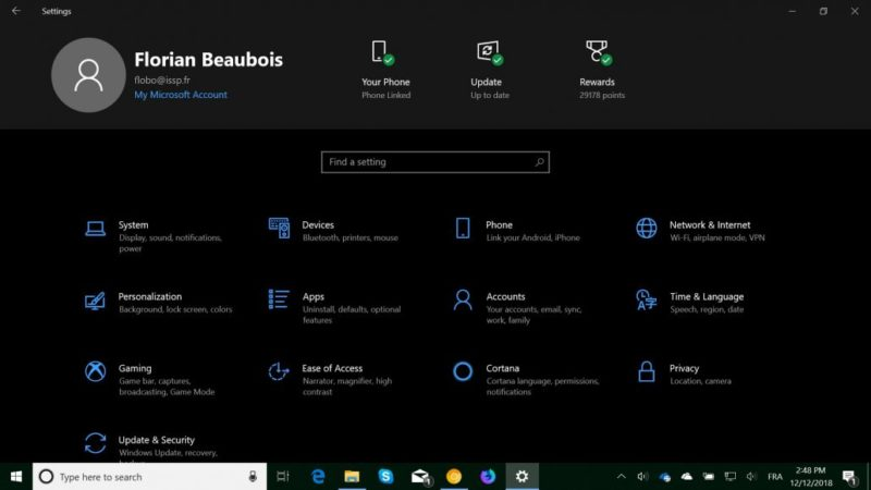 Configuración de Windows 10
