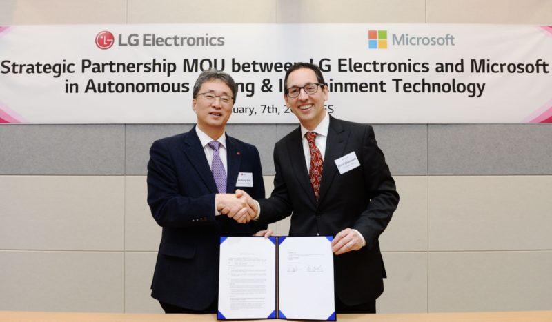 LG se alía con Microsoft™ para impulsar la IA en los coches eléctricos