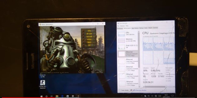 Así se ve Fallout para PC en un Lumia 950 XL