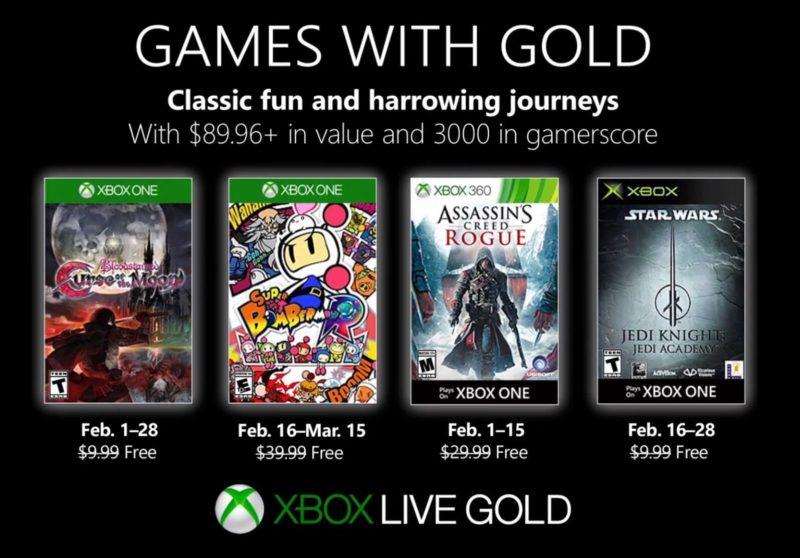 Games with Gold para Febrero