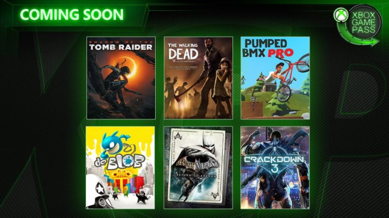 Crackdown 3 y Shadow of the Tomb Raider entre los próximos juegos Xbox Game Pass