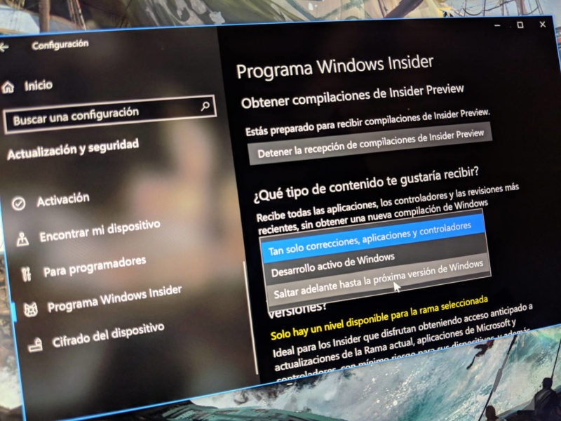 Build 18845 (20H1) ya disponible en el anillo Skip Ahead