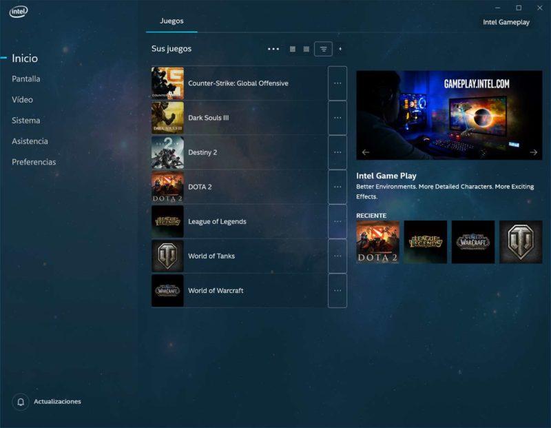 Intel lanza su nuevo Centro de comando de gráficos en la tienda Windows 10