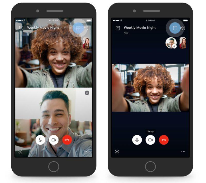 Skype ya permite enfocarse en la persona que habla durante una videollamada