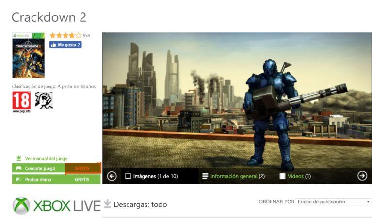 Descarga gratis Crackdown 2 para Xbox One y Xbox 360