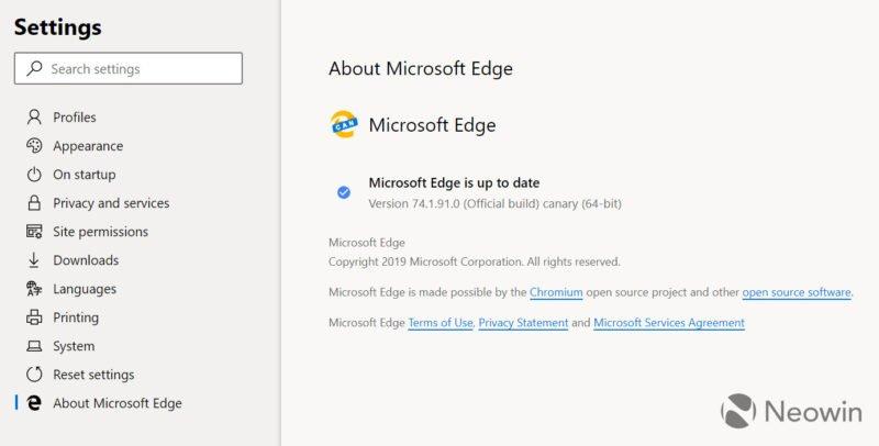 """Edge """"Chromium"""""""