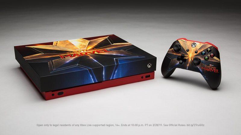 """Xbox sortea una Xbox One X Edición especial """"Capitana Marvel"""""""