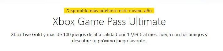 Xbox Game Pass Ultimate llegará a finales de año
