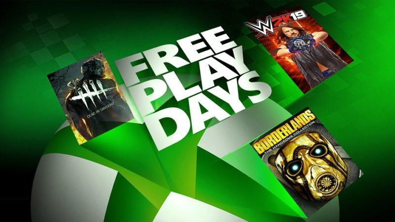 Nuevos Días de juego gratis con WWE 2K19, Borderlands y Dead by Daylight