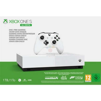 Xbox One S All Digital, se filtra su precio y especificaciones