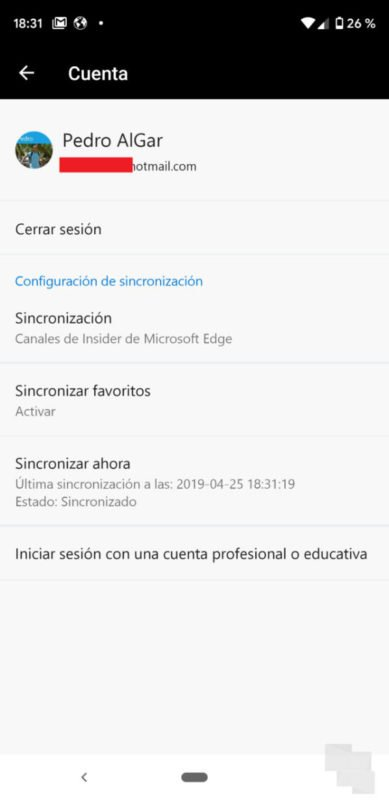 Ya puedes probar la sincronización de Egde Chromiun con Edge en Android