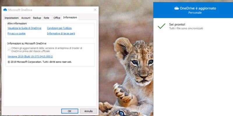 OneDrive Desktop Insider se actualiza con nuevo icono
