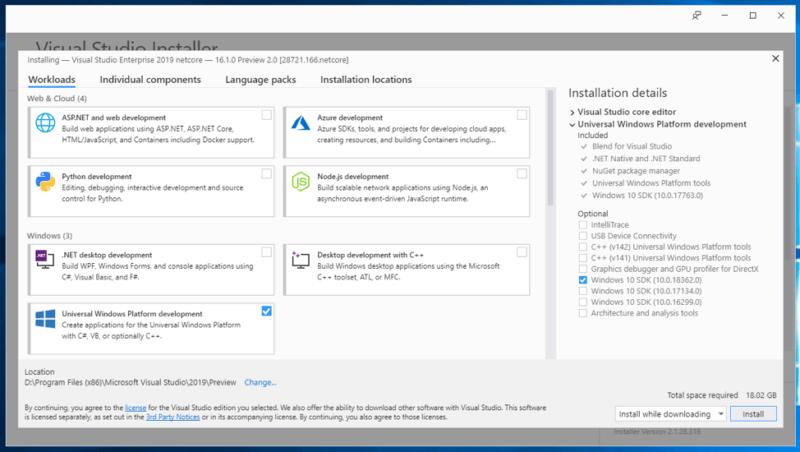 Disponible el SDK de Windows 10 May 2019 Update