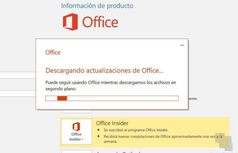 Office recibe la Build 11702.20000 en su versión Insider