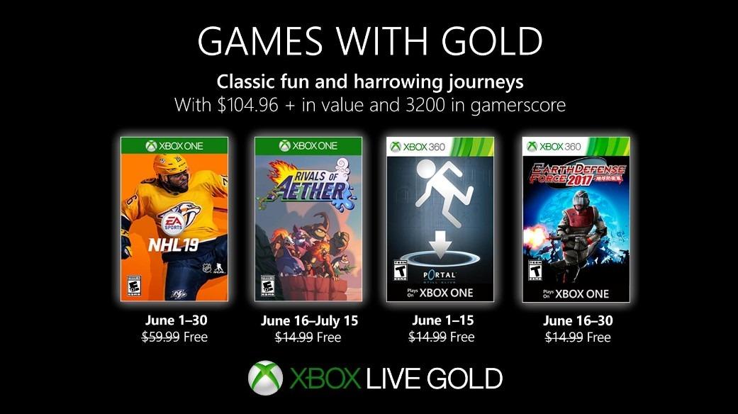 Games with Gold de Junio