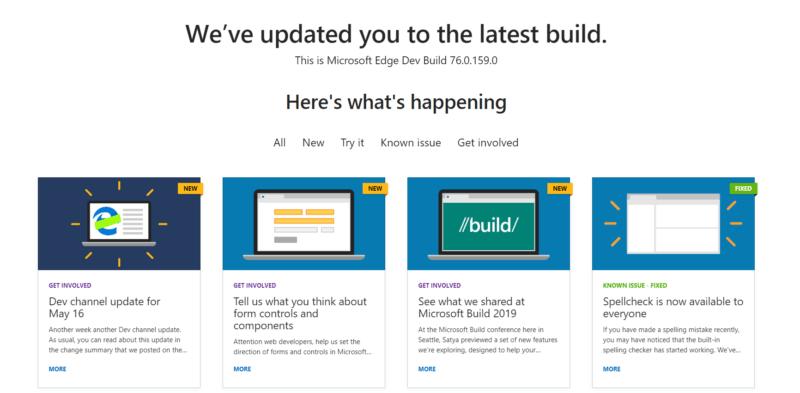 Dev a la Build 76.0.159.0