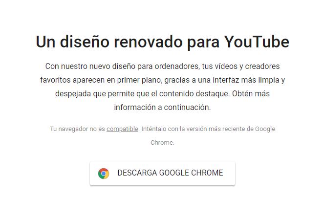 ¿Realmente está bloqueando YouTube al nuevo Egde? Yo diría que no