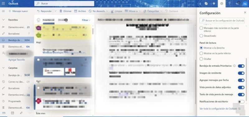 Así puedes activar las notificaciones en Outlook Web