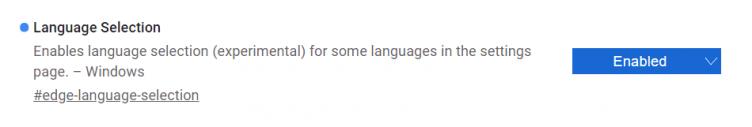 Edge Canary añade opciones gramaticales y selección de idioma