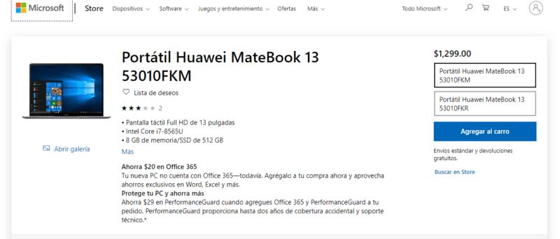 Huawei regresa a la tienda de Microsoft, de momento