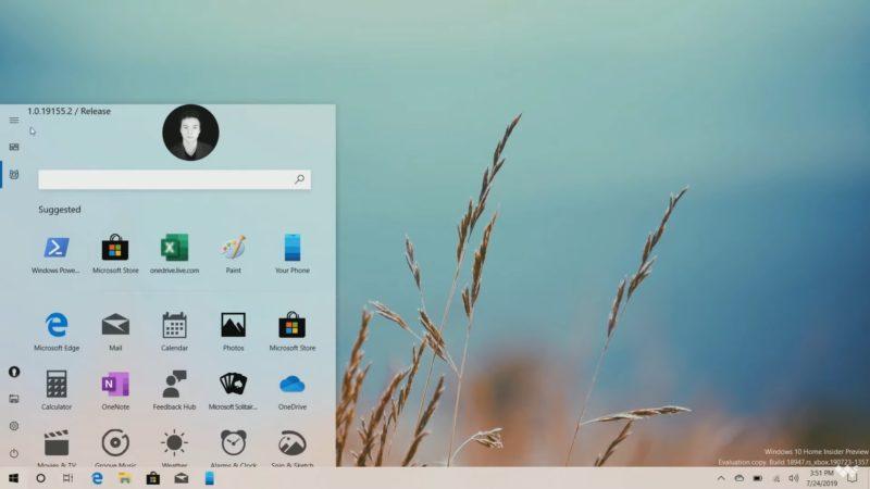 La Build 18947 deja ver el nuevo menú de Windows 10 [Con vídeo]