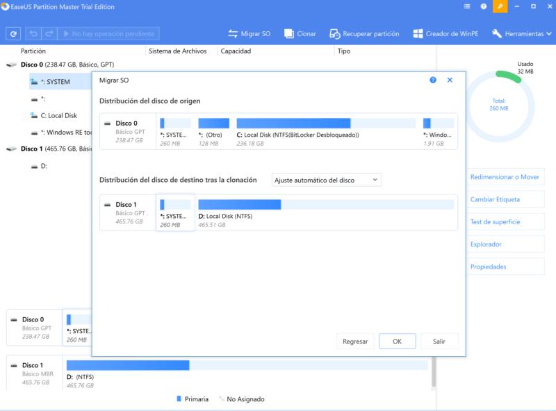 Como migrar tu sistema operativo con EaseUS Partition Master