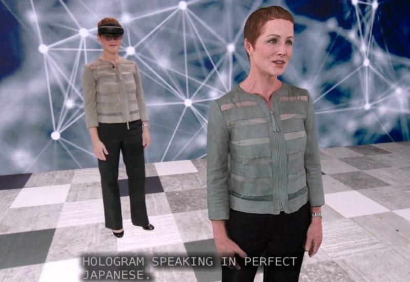 Microsoft nos muestra un avatar holográfico con traducción