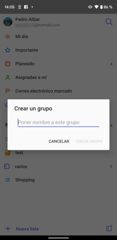 Microsoft To-Do beta ya permite agrupar listas en Android