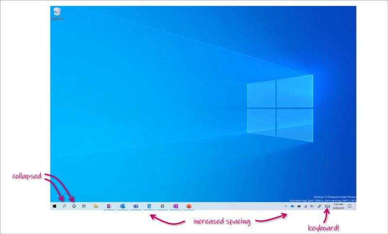 La Build 18970 llega al anillo rápido mejorando la experiencia en modo tableta