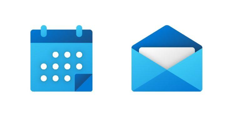 Estos serian los nuevos iconos de Calendario y correo para Windows 10 y Android