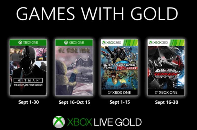 Estos son los Games with Gold de Septiembre para Xbox
