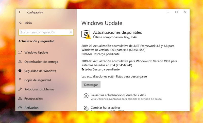 Windows 10(diez) May 2019 Update