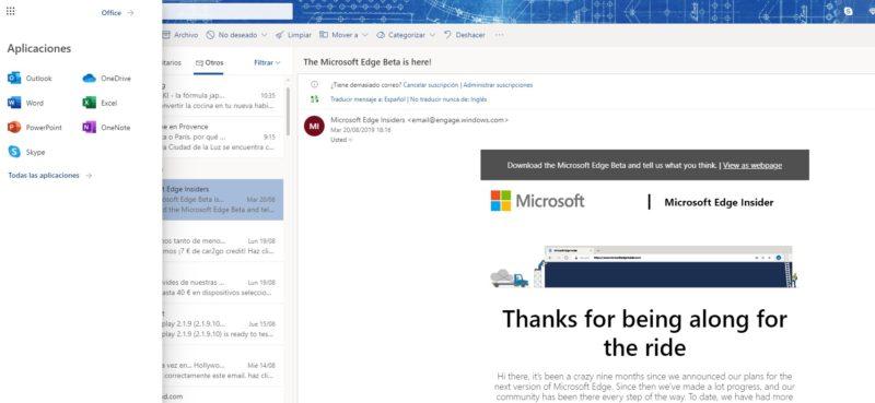Outlook.com comienza a mostrar nuevos iconos y cambios de diseño