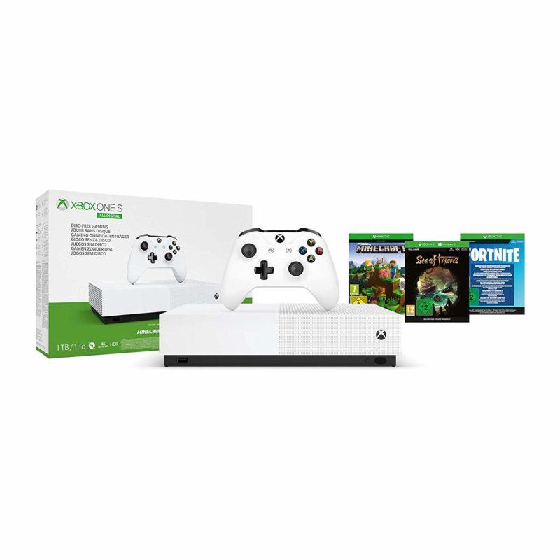 ¡Ofertón! Xbox One S 1 TB All-Digital Edition más tres juegos con un 41% de descuento