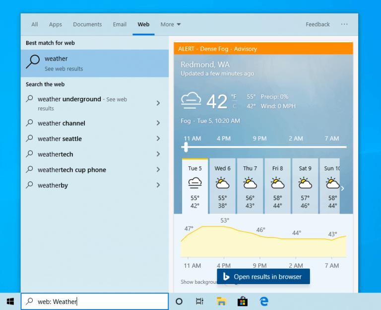La Build 19018 para el anillo rápido de Windows 10, migra a los usuarios Skip Ahead