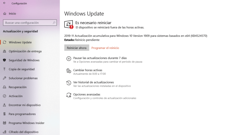 Windows 10 November 2019 Update ya está disponible