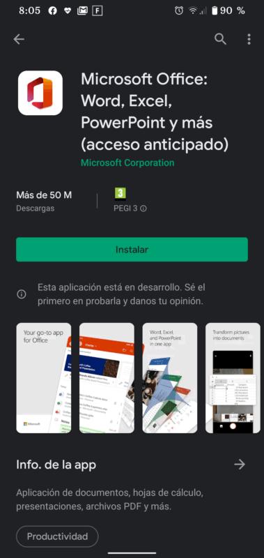 Microsoft une sus servicios Office para Android en una app