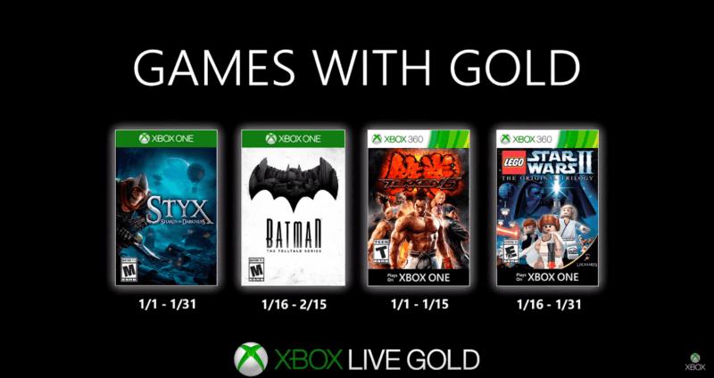 Conocemos los Games with Gold para enero de 2020