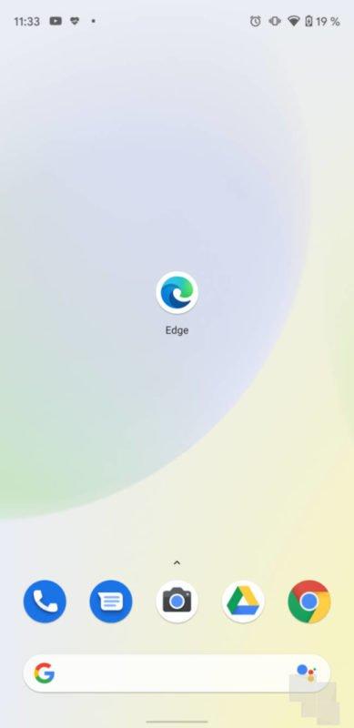 Edge ya luce nuevo icono en su beta de Android